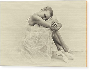Le' Ballerina Wood Print by Swank Photography