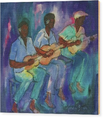 The Band Boys Wood Print by Karen Bower