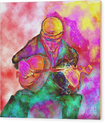 The Banjo Player Wood Print