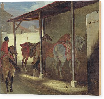 The Barn Of Marechal-ferrant Wood Print by Theodore Gericault