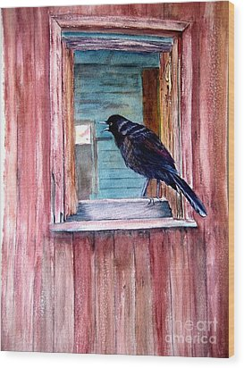 The Barn Wood Print by Patricia Pushaw