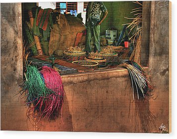 The Basket Cooperative Wood Print