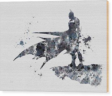 The Bat Wood Print