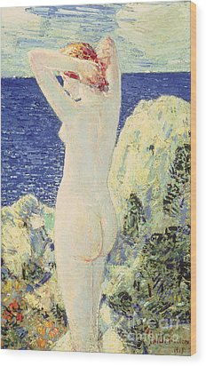 The Bather Wood Print by Childe Hassam