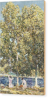 The Bathers Wood Print by Childe Hassam