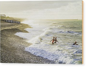 Wood Print featuring the photograph The Bathers by Russell Styles