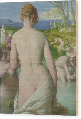 The Bathers Wood Print by William Mulready