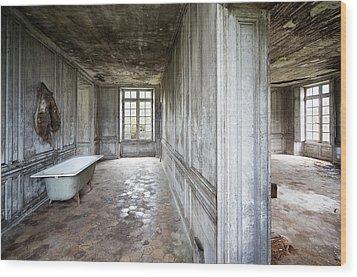The Bathroom Next Door - Urban Exploration Wood Print