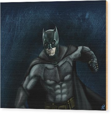 The Batman Wood Print by Vinny John Usuriello