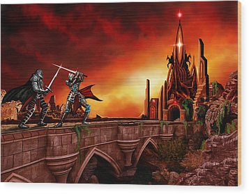 Wood Print featuring the painting The Battle For The Crystal Castle by James Christopher Hill