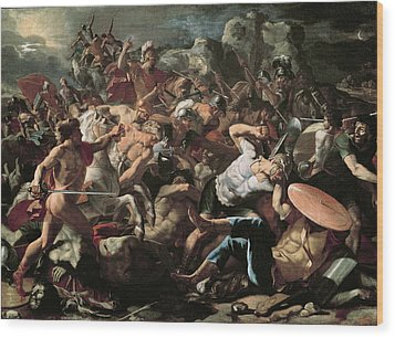 The Battle Wood Print by Nicolas Poussin