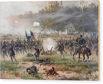 The Battle Of Antietam Wood Print by War Is Hell Store