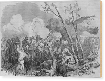 The Battle Of Bull Run Wood Print by War Is Hell Store
