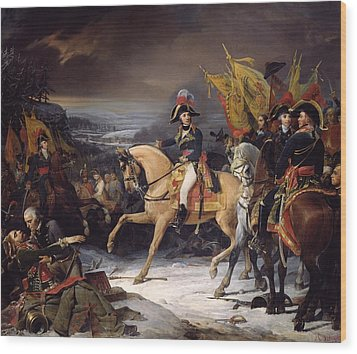 The Battle Of Hohenlinden Wood Print by Henri Frederic Schopin