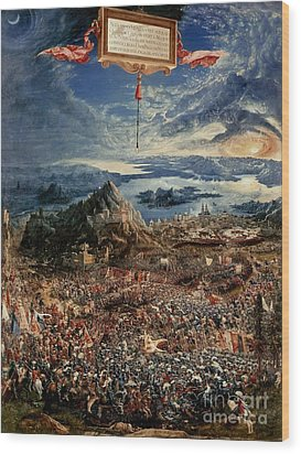 The Battle Of Issus Wood Print by Albrecht Altdorfer