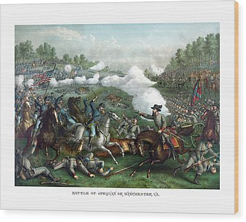 The Battle Of Winchester Wood Print by War Is Hell Store
