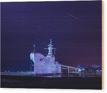 The Battleship Wood Print
