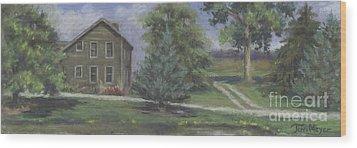 The Bauer Farm Wood Print by Terri  Meyer
