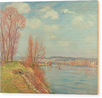 The Bay And The River Wood Print by Jean Baptiste Armand Guillaumin