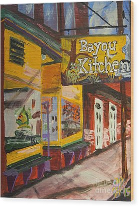 The Bayou Kitchen Wood Print