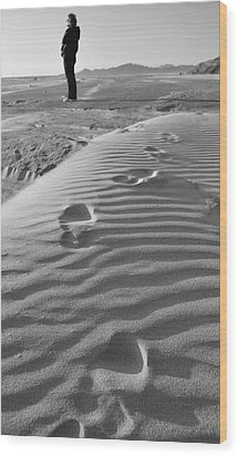 The Beach Comber Wood Print