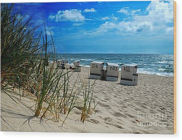 The Beach Wood Print by Hannes Cmarits