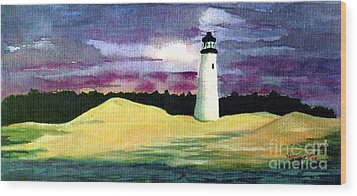 Wood Print featuring the painting The Beacon by Patricia Griffin Brett
