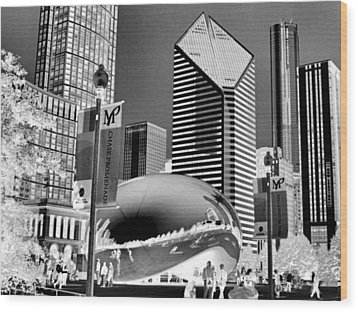 The Bean - 2 Wood Print