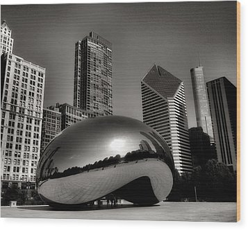 The Bean - 4 Wood Print