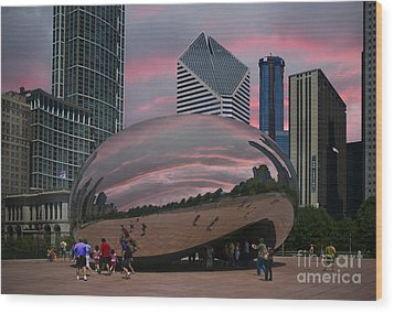 The Bean - Chicago Wood Print by Jim Wright