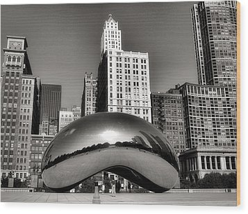 The Bean - 3 Wood Print