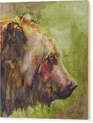 The Bear Wood Print