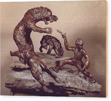 The Bear Trap Wood Print by Willoughby Senior