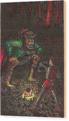 The Beast And Prince Meet Wood Print by Al Goldfarb