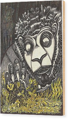The Beast Discovers New Life Wood Print by Al Goldfarb