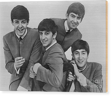 The Beatles, 1963 Wood Print by Granger