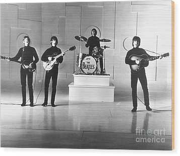 The Beatles, 1965 Wood Print by Granger
