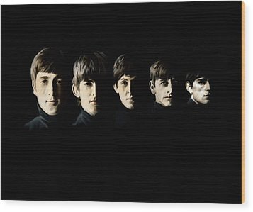 Wood Print featuring the painting The Beatles Destinies Fate by Iconic Images Art Gallery David Pucciarelli