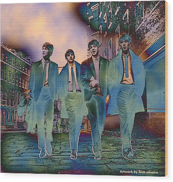 The Beatles Forever Wood Print by Trish Oliveira