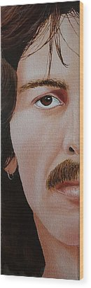 The Beatles George Harrison Wood Print by Vic Ritchey