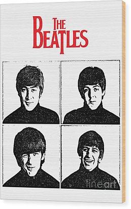 The Beatles No.12 Wood Print by Caio Caldas
