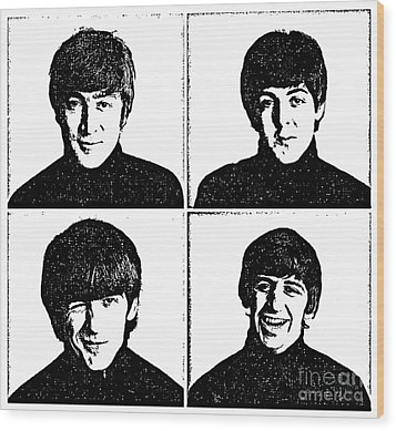 The Beatles No.13 Wood Print by Caio Caldas