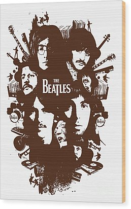 The Beatles No.15 Wood Print by Caio Caldas