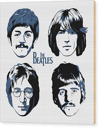 The Beatles No.18 Wood Print by Caio Caldas