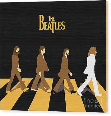 The Beatles No.19 Wood Print by Caio Caldas