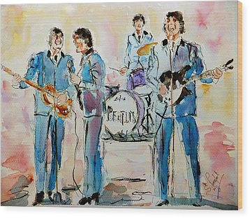 The Beatles Wood Print by Steven Ponsford
