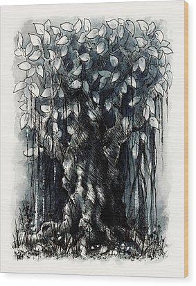 The Beautiful Tree Wood Print by Rachel Christine Nowicki