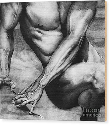The Beauty Of A Nude Man Wood Print by RjFxx at beautifullart com
