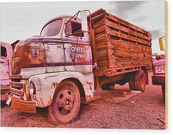 Wood Print featuring the photograph The Beauty Of An Old Truck by Jeff Swan