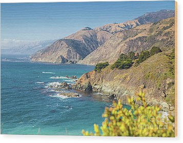 The Beauty Of Big Sur Wood Print by JR Photography